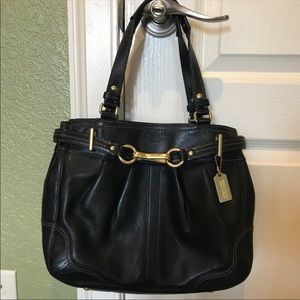 Coach Hampton handbag Black NWT